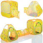 LCP Kids Tente de jeu enfant Pop Up Buttlerfly avec tunnel et 100 balles