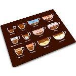 Joseph joseph 90016 - Planche à découper en verre motif tasses à café (30 x 40 cm)