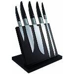 Laguiole Bloc aimanté avec 5 couteaux de cuisine en inox