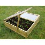 Nature World Carré potager / serre en bois (100 x 100 x 20 cm)