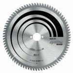 Bosch 2608640435 - Lame de scie circulaire Optiline Wood, 254 x 30 x 2,0 mm, 40, SB2, 0 K&G négatif
