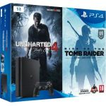Sony Console PS4 1 To Slim + Uncharted 4 + Rise of the Tomb Rider