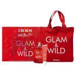 IKKS Coffret For a Kiss pour femme : Eau de toilette, parfum gel et sac cabas