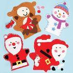Baker Ross 3 kits de marionnettes de Noël à suspendre