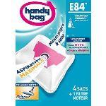 Handy Bag E84 - 4 sacs aspirateur en microfibres et 1 filtre sortie d'air