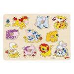 Goki 57838 - Puzzle à encastrements Bébés Animaux II 10 éléments