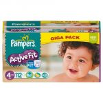 Pampers Active Fit taille 4 Maxi (7-18 kg) - Giga pack x 112 couches