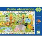 Djeco Puzzle jeu d'observation: La jungle + Poster 35 pièces