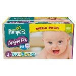 Pampers Active Fit taille 3 Midi (4-9 kg) - Méga pack x 100 couches