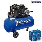 Michelin VCX 150/3 - Compresseur bicylindre 150L 10 bars