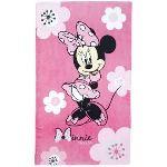 Cti 041396 - Drap de bain/plage Minnie Pink Flowers (70 x 120 cm)