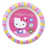 Spel Assiette plate ronde Hello Kitty en mélamine 22 cm