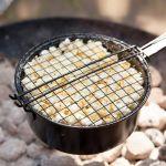 Esschert design Casserole à popcorn en fer