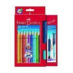 Faber-Castell Etui de 10 crayons de couleurs aquarellables avec pinceau