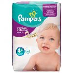 Pampers Active Fit taille 4+ Maxi Plus 9-20 kg - 21 couches