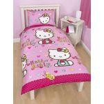 Hello Kitty Folk - Housse de couette et taie (135 x 200 cm)