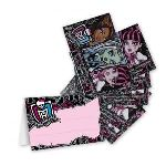 4 cartes d'invitations et enveloppes Monster High