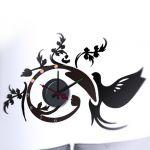 Horloge murale sticker Design Arabesques