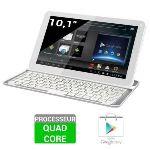 "Polaroid Platinium 10.1"" 16 Go - Tablette tactile sous Android 4.4 avec clavier Bluetooth"