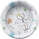 8 assiettes plastique Titi Flower