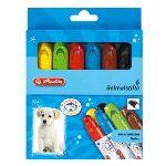 Herlitz 6 Crayons gel gousse en plastique résistant dévissable assortis
