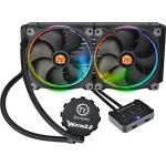 Thermaltake Water 3.0 Riing RGB 280 - Kit de Watercooling pour processeur avec 2 ventilateurs 140 mm PWM RGB