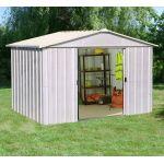 Yardmaster 1010ZGEY - Abri de jardin en métal 9,03 m2