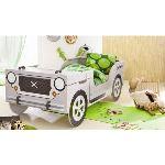 Someo Lit enfant jeep safari avec sommier (90 x 190 cm)