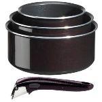 Tefal 3 casseroles Ingenio avec poignée (16 / 18 / 20 cm)