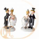 Figurine couple de mariés kiss (13.5 cm)