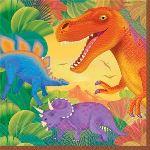 Amscan 16 serviettes Dinosaure