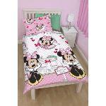 Character World Disney Minnie Mouse Café - Housse de couette et taie (135 x 200 cm)