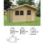 Decor et jardin 76549SZ00 - Abri de jardin en bois massif 34 mm 14,90 m2 (porte simple)