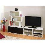 Meuble TV Hygie 2 portes 7 niches en bois