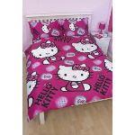 Hello Kitty Ink - Housse de couette et 2 taies (200 x 200 cm)
