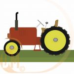 Chaks 80038 - Centre de table tracteur (18 cm)