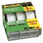 Scotch 3 rouleaux rubans adhésif avec un dévidoir inclus (19 mm x 7,5 m)