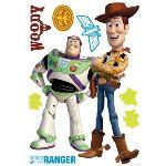 Decofun Maxi stickers Woody et Buzz l'éclair avec 7 autres petits stickers (Toy Story)