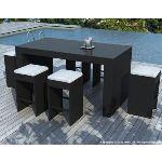 Delorm Design SD8301 - Bar d'extérieur Barrio en résine tressée avec 6 tabourets