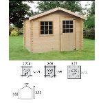 Decor et jardin 63405S000 - Abri de jardin en bois massif 28 mm 5,90 m2 (vitrage fixe)