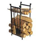 Ose Serviteur de cheminée avec pince à bois, pelle et balai