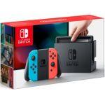 Nintendo Switch avec Joy-Con rouge néon et bleu néon