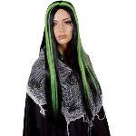 Perruque sorcière noire avec mèches femme