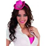 Mini chapeau cowgirl adulte