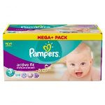 Pampers Active Fit taille 3 Midi (4-9 kg) - Pack Méga Plus 100 couches