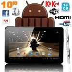 """Yonis Y-tt10pa416go - Tablette tactile 10"""" 8 Go interne + Micro SD 8 Go sous Android 4.0"""