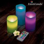 3 bougies LED à télécommande