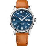 Hugo Boss 1513331 - Montre pour homme avec bracelet en cuir