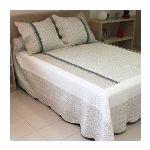 Soleil d'Ocre Couvre-lit boutis matelassé Roussillon avec 2 tais d'oreiller (220 x 240 cm)