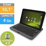 "Logicom S1052 4 Go - Tablette tactile 10,1"" Android 4.2 avec Google Play + Clavier BT"